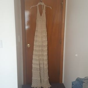 Victoria secret crochet maxi dress